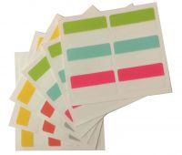 Index Sticker - 22x40 mm, 6 Farben, 36 Stück